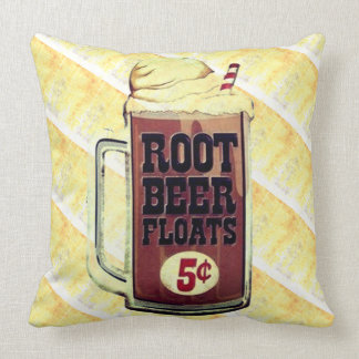 Old Fashioned Root Beer Float Pillow
