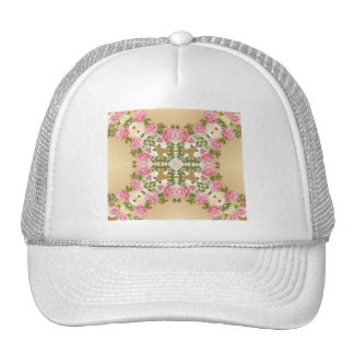 Old Fashioned Roses Golden Accents Trucker Hat