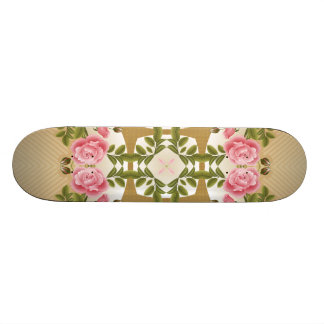 Old Fashioned Roses Golden Accents Custom Skate Board
