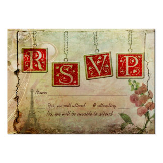 Old Fashioned RSVP Pack Of Chubby Business Cards