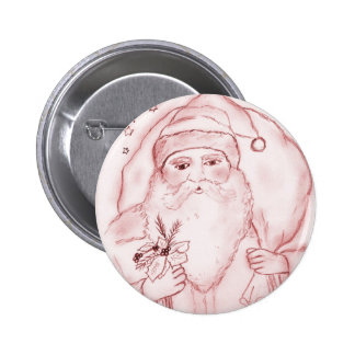 Old Fashioned Santa 6 Cm Round Badge