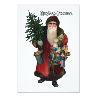 Old Fashioned Santa Claus Holiday Christmas Party Card
