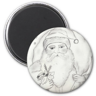 Old Fashioned Santa Claus Refrigerator Magnet