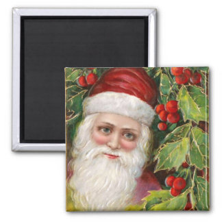 Old Fashioned Santa Claus Square Magnet