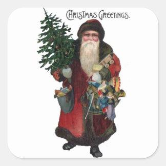 Old Fashioned Santa Claus Square Sticker