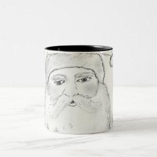 Old Fashioned Santa Claus Two-Tone Mug