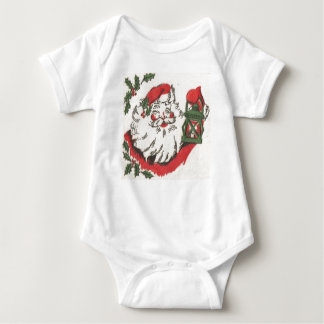 Old-Fashioned Santa Clause holding Lantern Baby Bodysuit