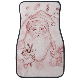 Old Fashioned Santa in Red Floor Mat