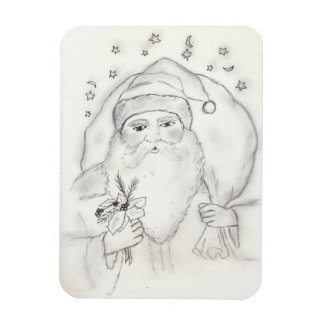 Old Fashioned Santa Rectangle Magnet