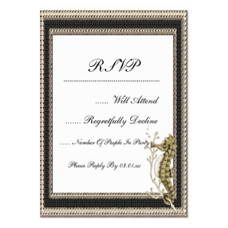 Old Fashioned Seahorse on Vintage Paper Background Business Card Template