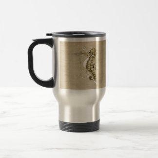 Old Fashioned Seahorse on Vintage Paper Background Mug
