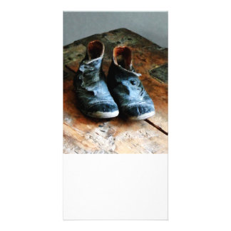 Old-Fashioned Shoes Custom Photo Card