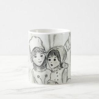 Old Fashioned Skaters Coffee Mug