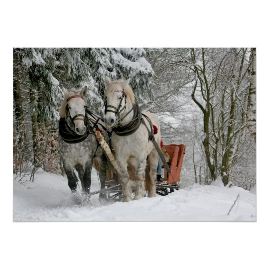 Old Fashioned Sleigh Ride Poster