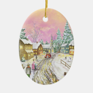 Old Fashioned Snowland Christmas Christmas Ornament