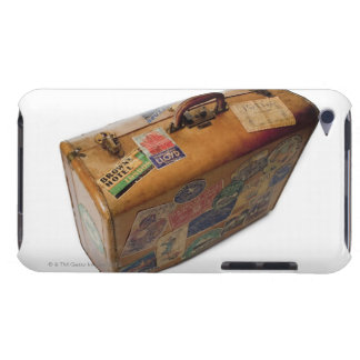 old fashioned suitcase with travel stickers barely there iPod cases