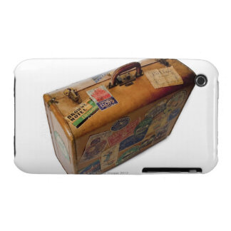 old fashioned suitcase with travel stickers Case-Mate iPhone 3 cases