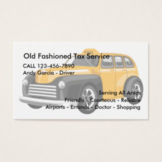 Old Fashioned Tax Business Cards