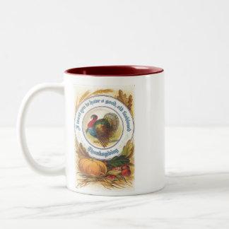 Old Fashioned Thanksgiving Two-Tone Coffee Mug