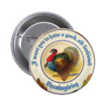 Old Fashioned Thanksgiving Round Button