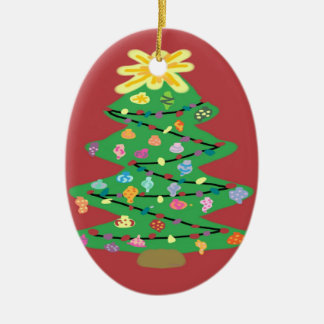 Old Fashioned Tree Christmas Ornament