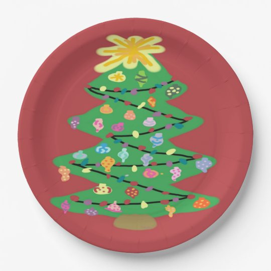 Old Fashioned Tree Paper Plate