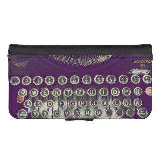 old fashioned typewriter phone wallet case