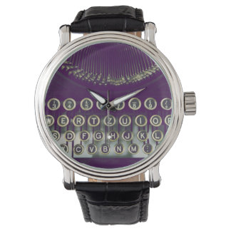 Old fashioned typewriter watch