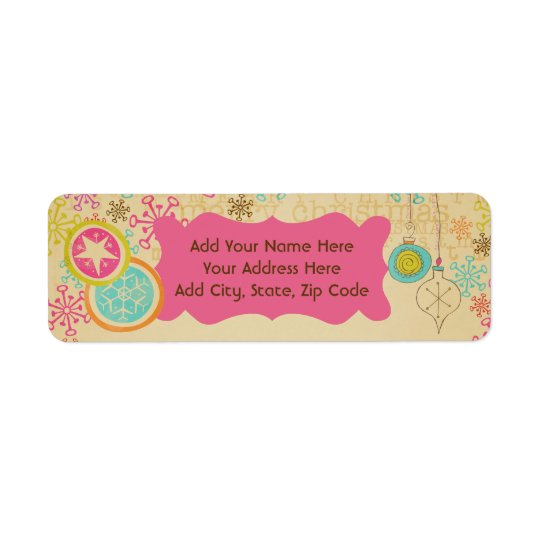 Old Fashioned Typography Return Address Labels