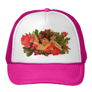 Old Fashioned Valentine Cupid Mesh Hat