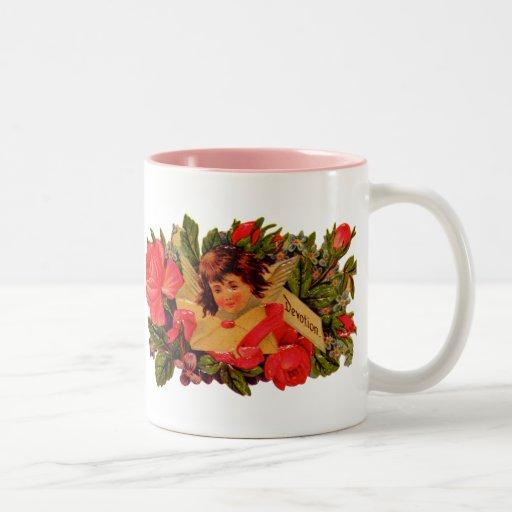Old Fashioned Valentine Cupid Mug