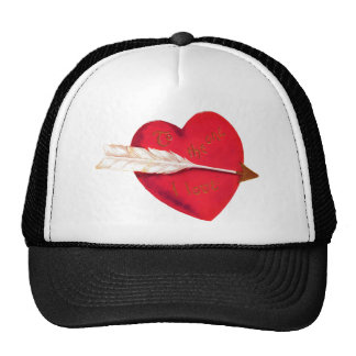 Old Fashioned Valentine's Heart Mesh Hat