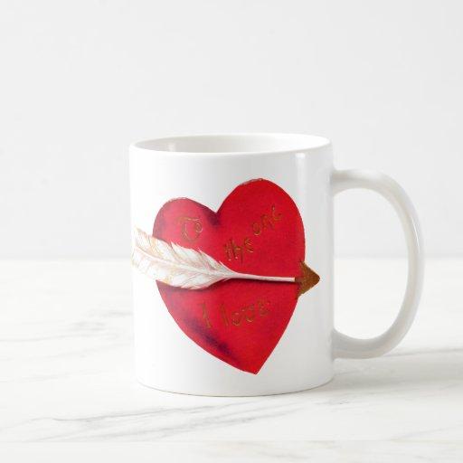 Old Fashioned Valentine's Heart Mug