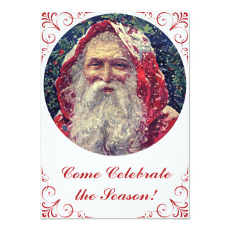 Old-fashioned Victorian Saint Nicholas 13 Cm X 18 Cm Invitation Card