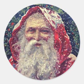 Old-fashioned Victorian Saint Nicholas Classic Round Sticker