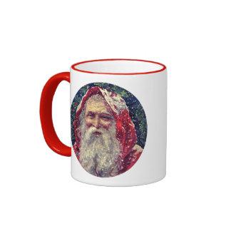 Old-fashioned Victorian Saint Nicholas Ringer Mug