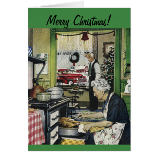 Old Fashioned Vintage Home Christmas Card