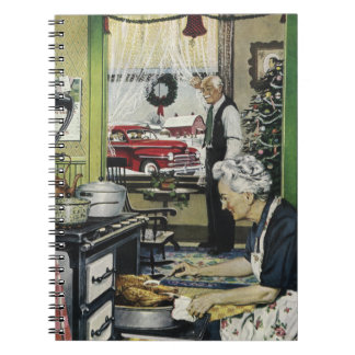 Old Fashioned Vintage Home Kitchen Christmas Notebooks