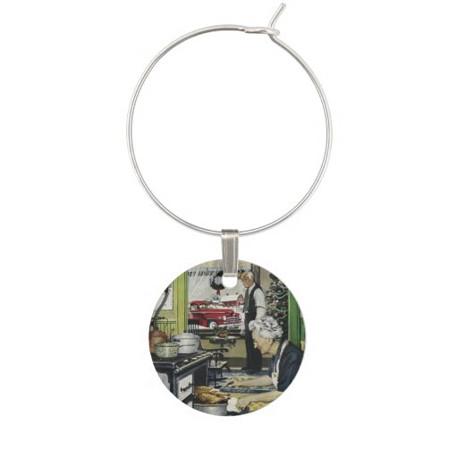 Old Fashioned Vintage Home Kitchen Christmas Wine Charm