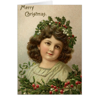 Old Fashioned Vintage Victorian Merry Christmas 6 Card
