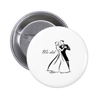Old Fashioned Wedding Couple dancing 6 Cm Round Badge