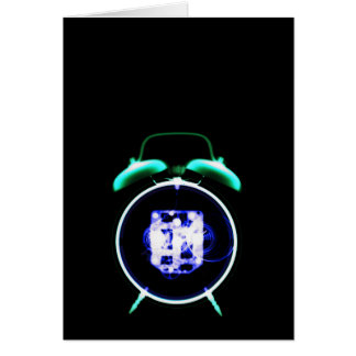 Old Fashioned X-Ray Clock Original Negative Greeting Card