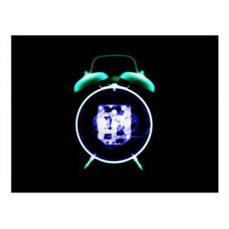 Old Fashioned X-Ray Clock Original Negative Postcard