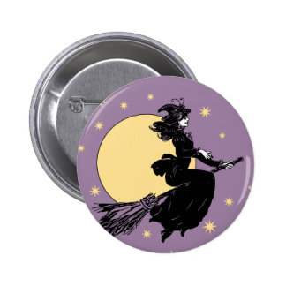 Old Fashoned Witch 6 Cm Round Badge