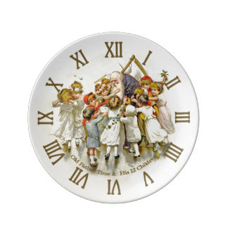 Old Father Time Plate