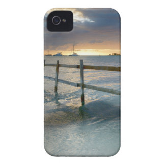 Old fence running into the ocean Case-Mate iPhone 4 case
