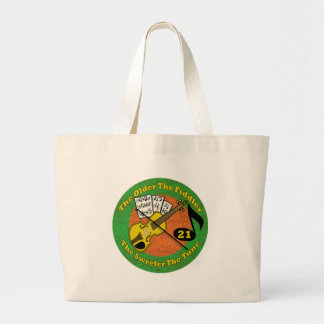 Old Fiddler 21st Birthday Gifts Jumbo Tote Bag