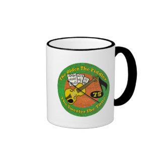 Old Fiddler 75th Birthday Gifts Mug