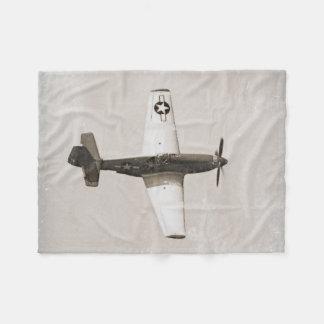 Old Fighter Airplanes B&W Fleece Blanket