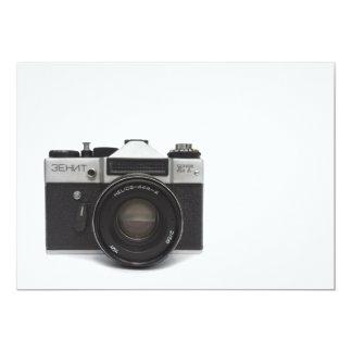 Old film camera 13 cm x 18 cm invitation card